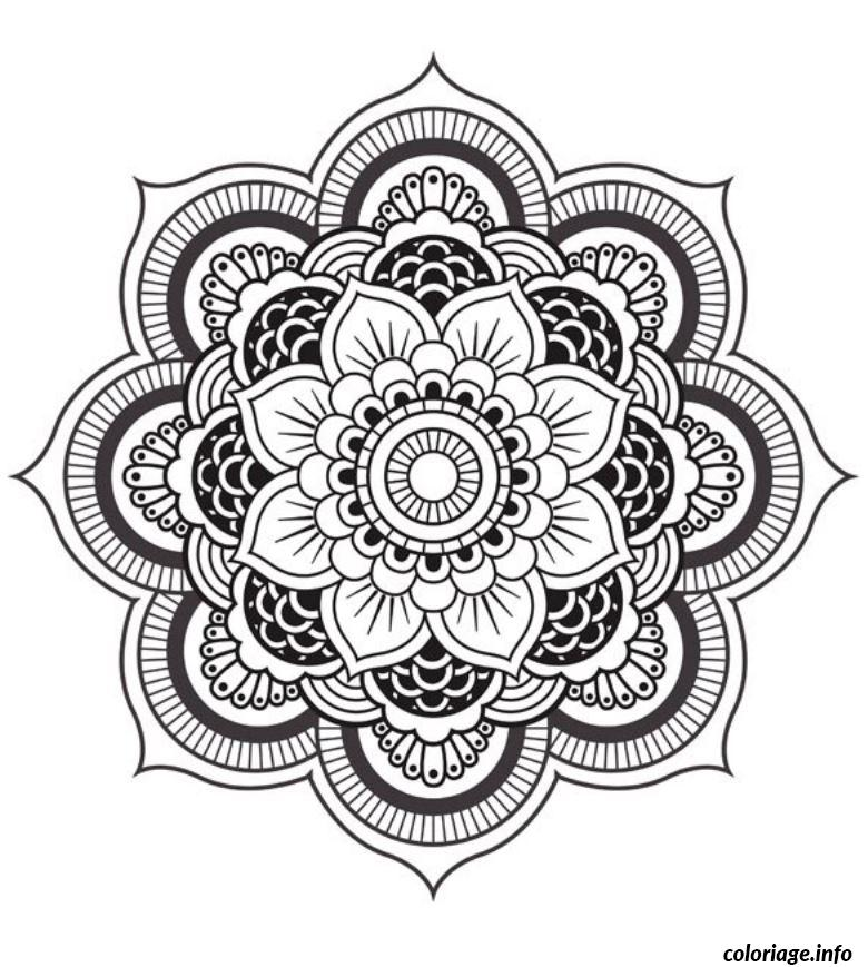 coloriage mandala fleur. Black Bedroom Furniture Sets. Home Design Ideas