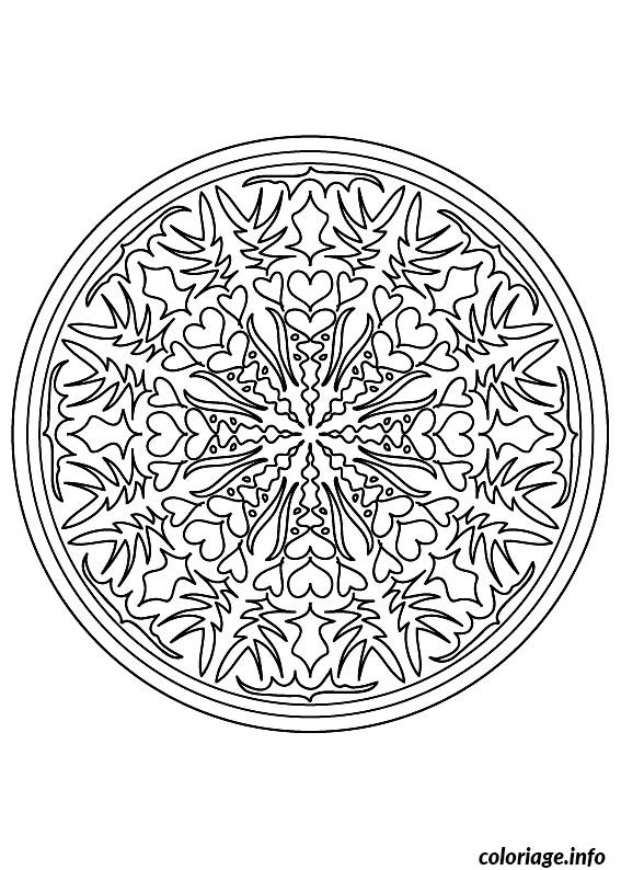 Dessin coloring mandala difficult 9 Coloriage Gratuit à Imprimer