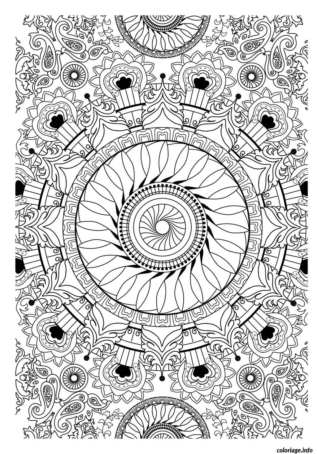 Coloriage free mandala to color vegetation dessin - Dessin vegetation ...