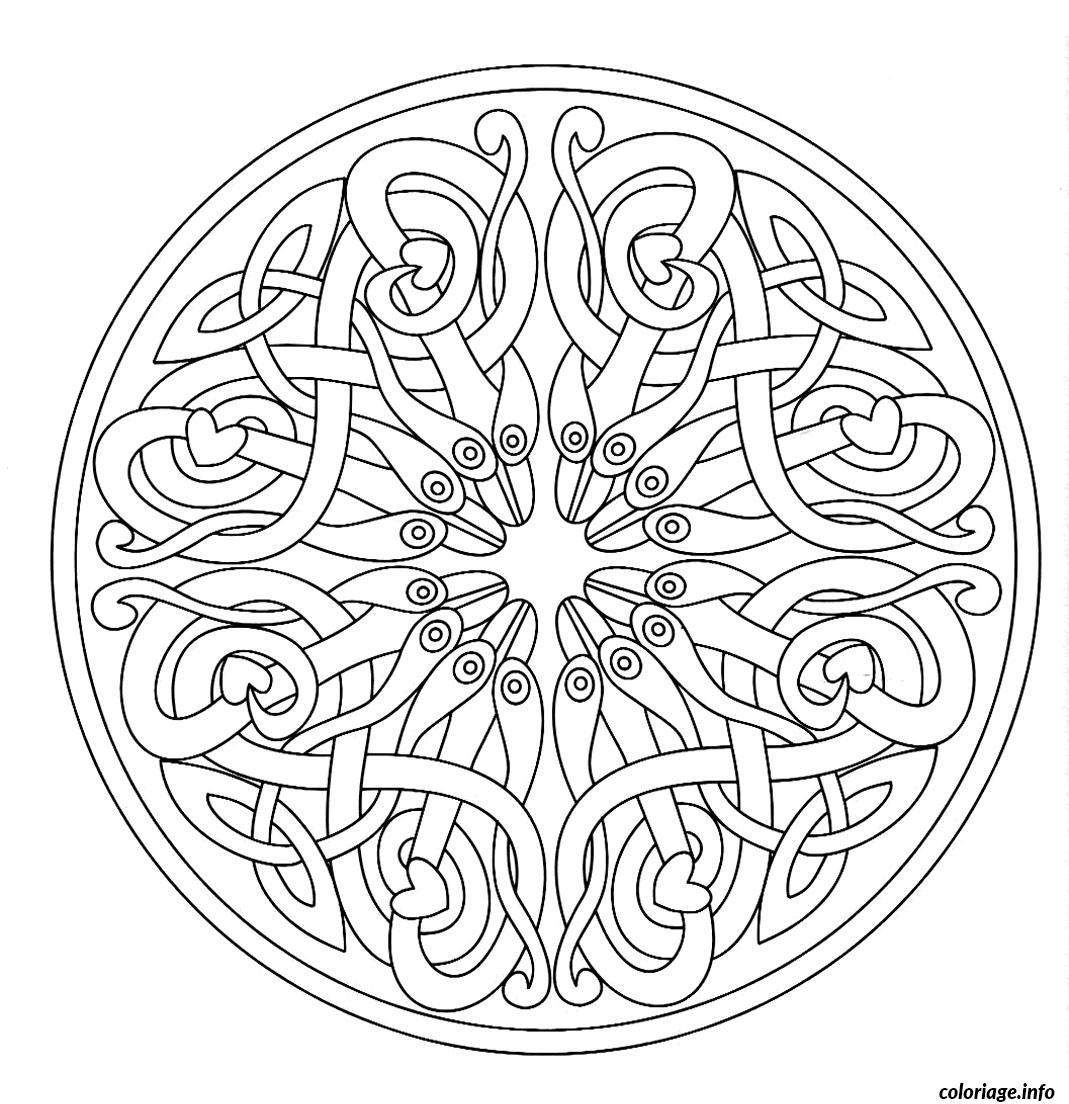 Dessin coloring mandala adult 7 Coloriage Gratuit à Imprimer
