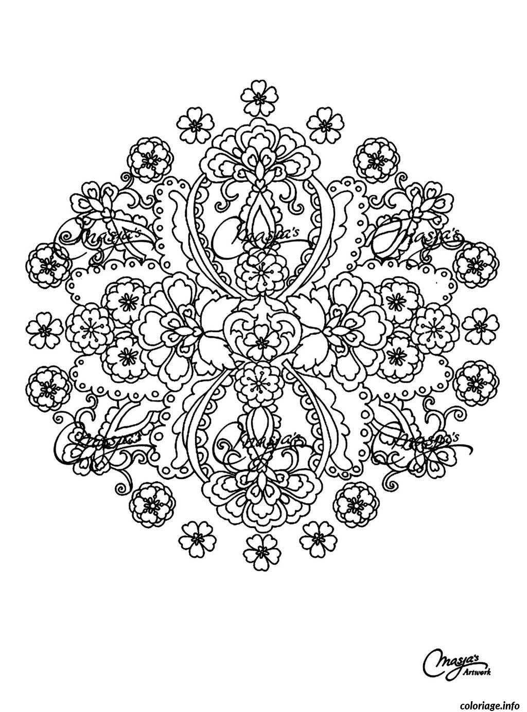 Coloriage Coloring Free Mandala Difficult Adult To Print 15  Dessin à Imprimer