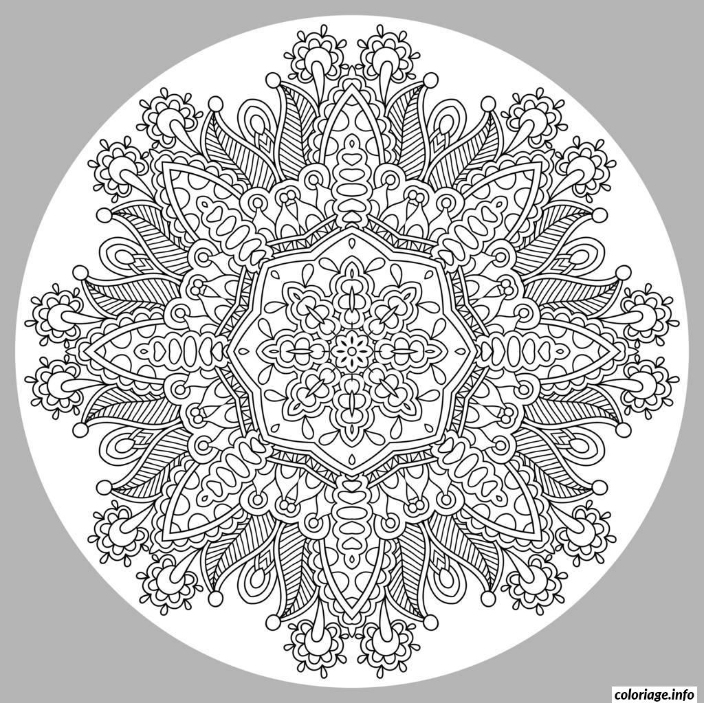 coloriage coloring adult mandala by karakotsya 1 dessin. Black Bedroom Furniture Sets. Home Design Ideas
