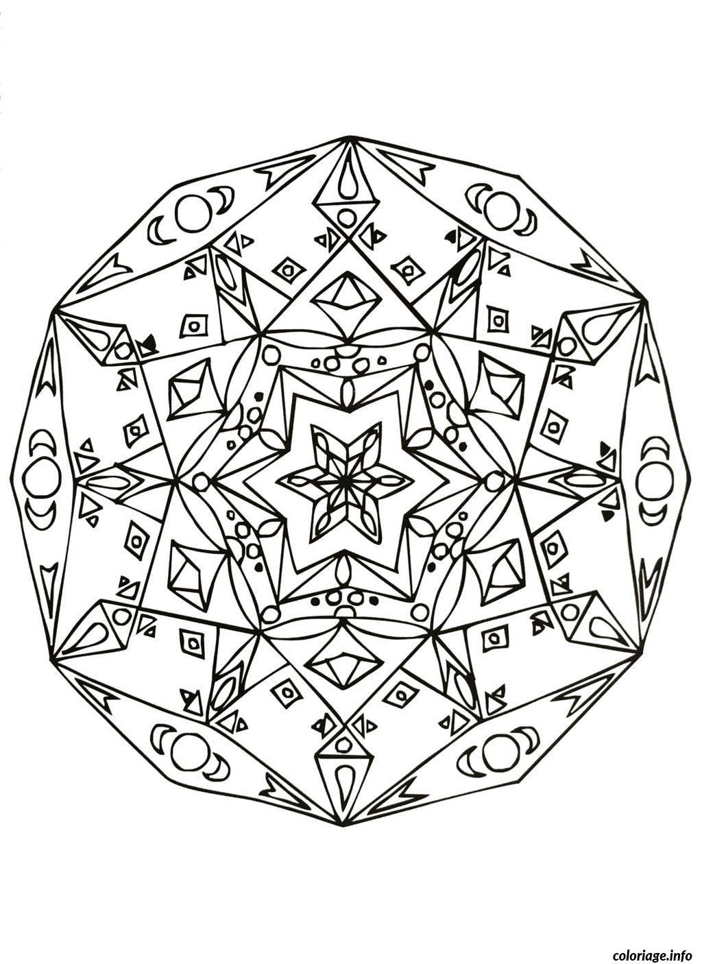 Coloriage mandalas to download for free 16 dessin - Dessin geometrique a colorier ...