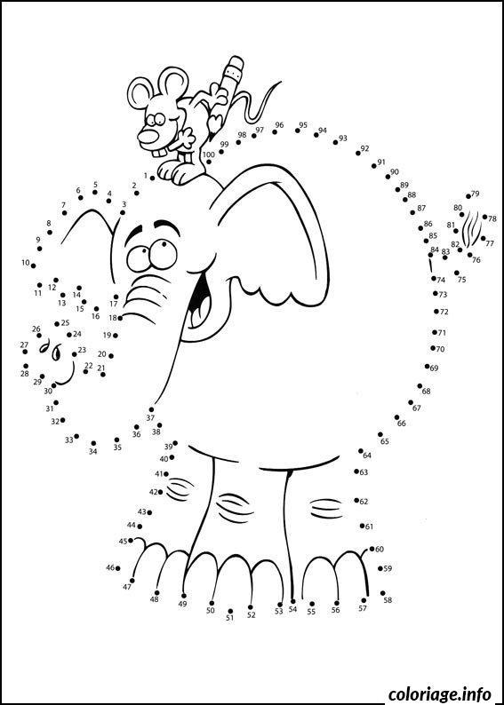 Coloriage point a relier maternelle elephant - Dessin a point a relier ...