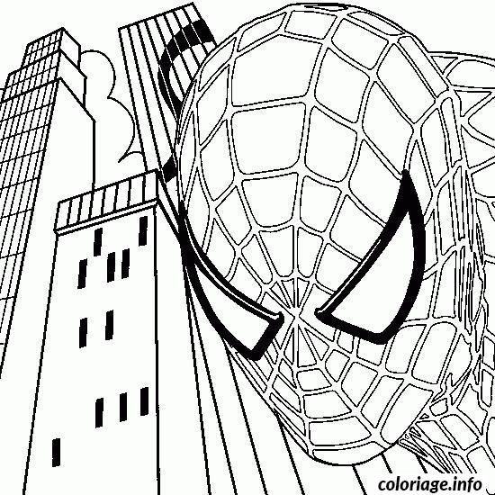 Coloriage Spider-man Au Centre-ville dessin