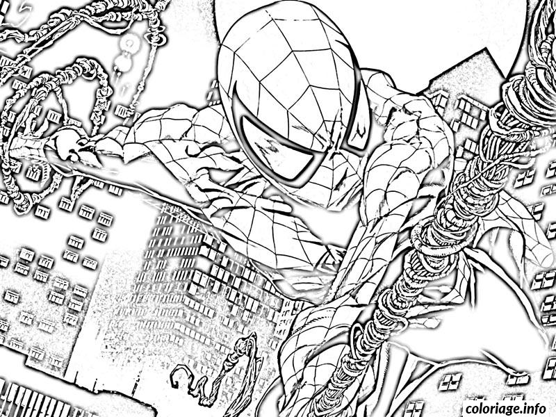 coloriage spider