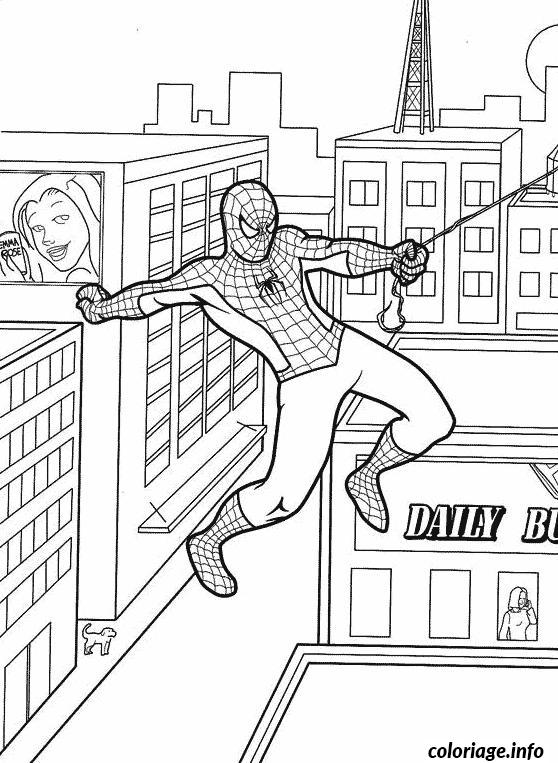 Coloriage Spiderman 283 Dessin à Imprimer