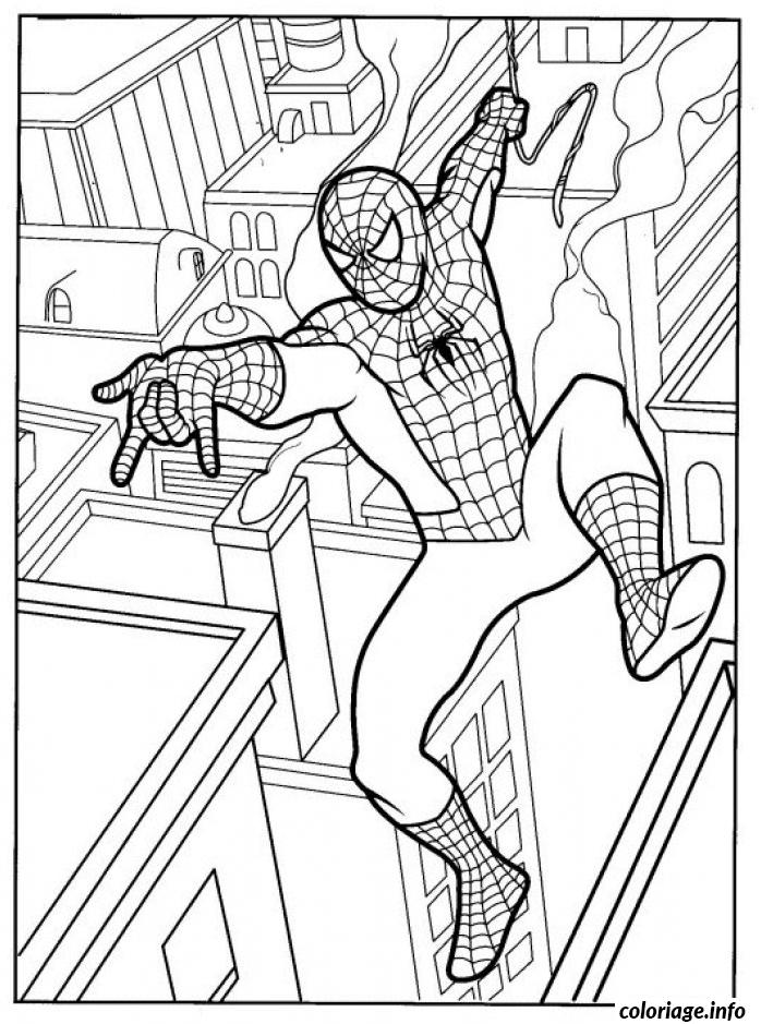 Coloriage Spiderman 291 Dessin à Imprimer