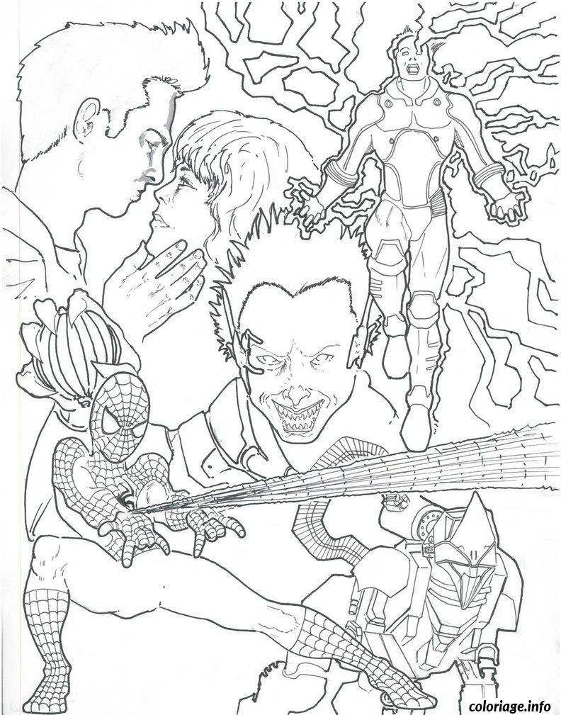 Coloriage spiderman 337 - JeColorie.com