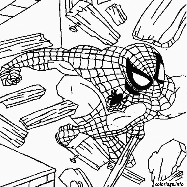 Coloriage Spiderman 87 Dessin à Imprimer