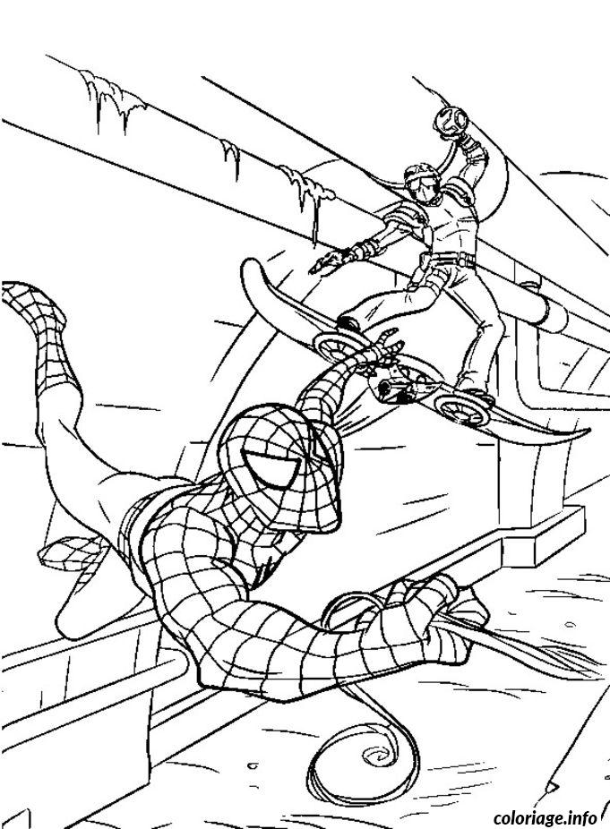 Coloriage Spiderman 125 Dessin à Imprimer