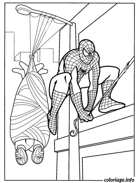 Dessin spiderman 288 Coloriage Gratuit à Imprimer