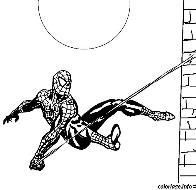 Coloriage spiderman 136 dessin - Spider man en dessin ...