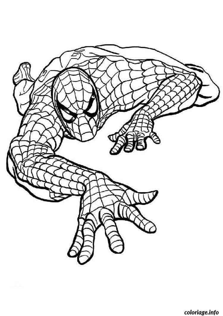 Coloriage Spiderman 195 Dessin à Imprimer