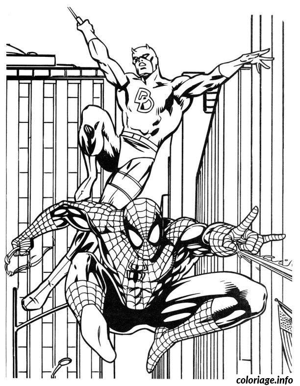 Coloriage Spiderman 237 Dessin à Imprimer