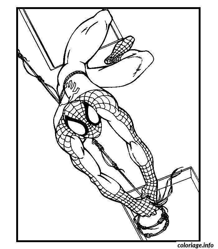Coloriage spiderman 145 dessin - Coloriage spiderman 1 ...
