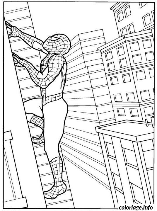 Coloriage Spiderman 346 dessin