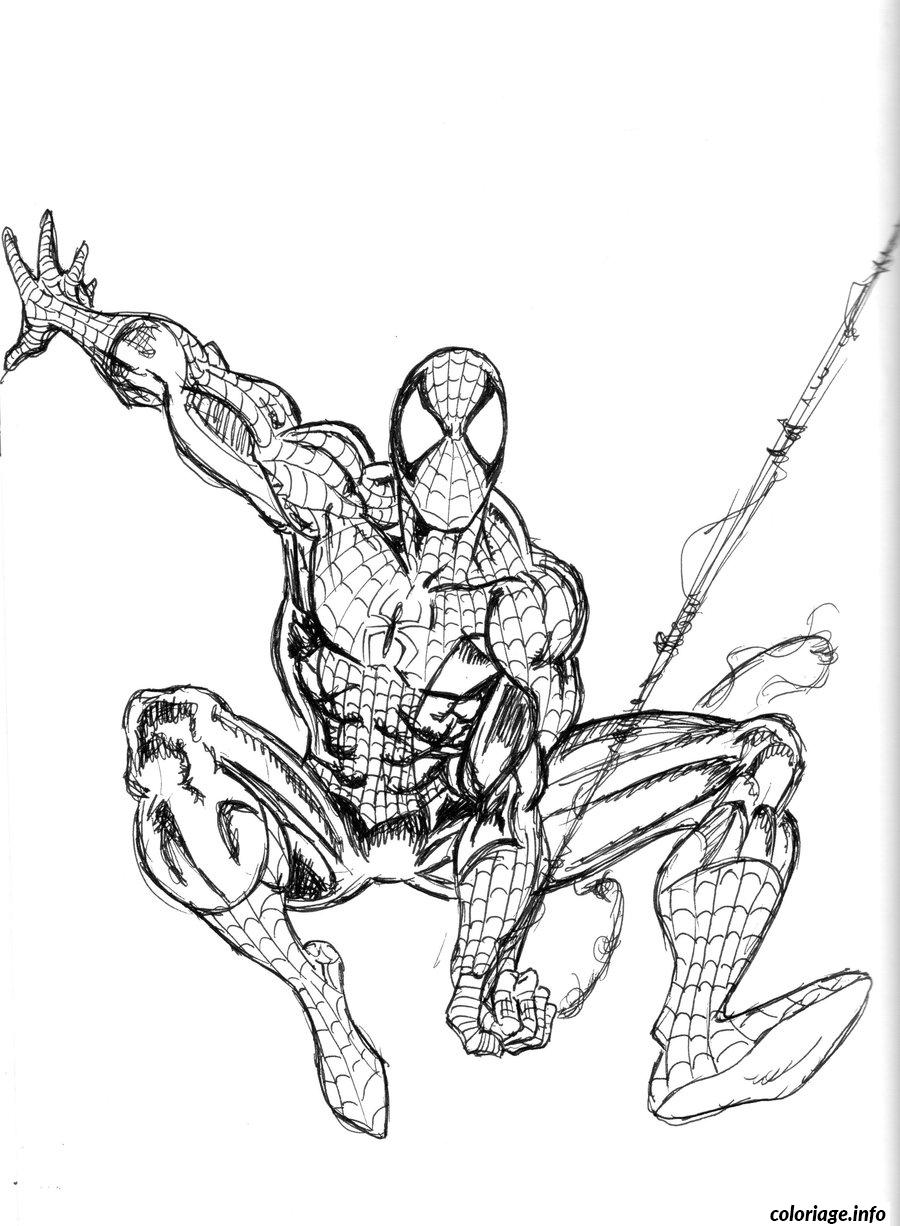 Coloriage Spiderman 132 dessin