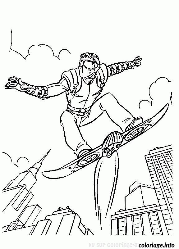 Coloriage harry osborn de spider man dessin - Photo de spiderman a imprimer gratuit ...