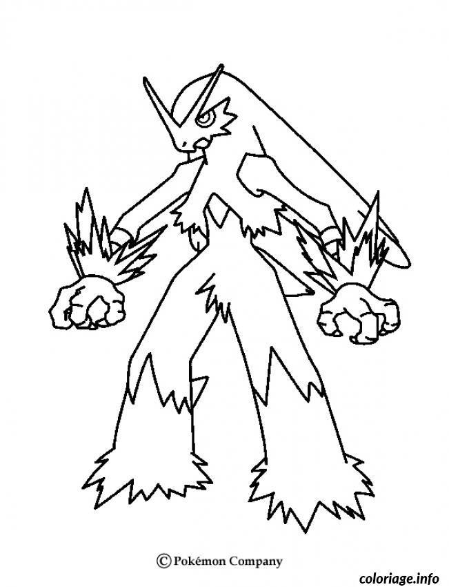 Dessin pokemon x ex 41 Coloriage Gratuit à Imprimer