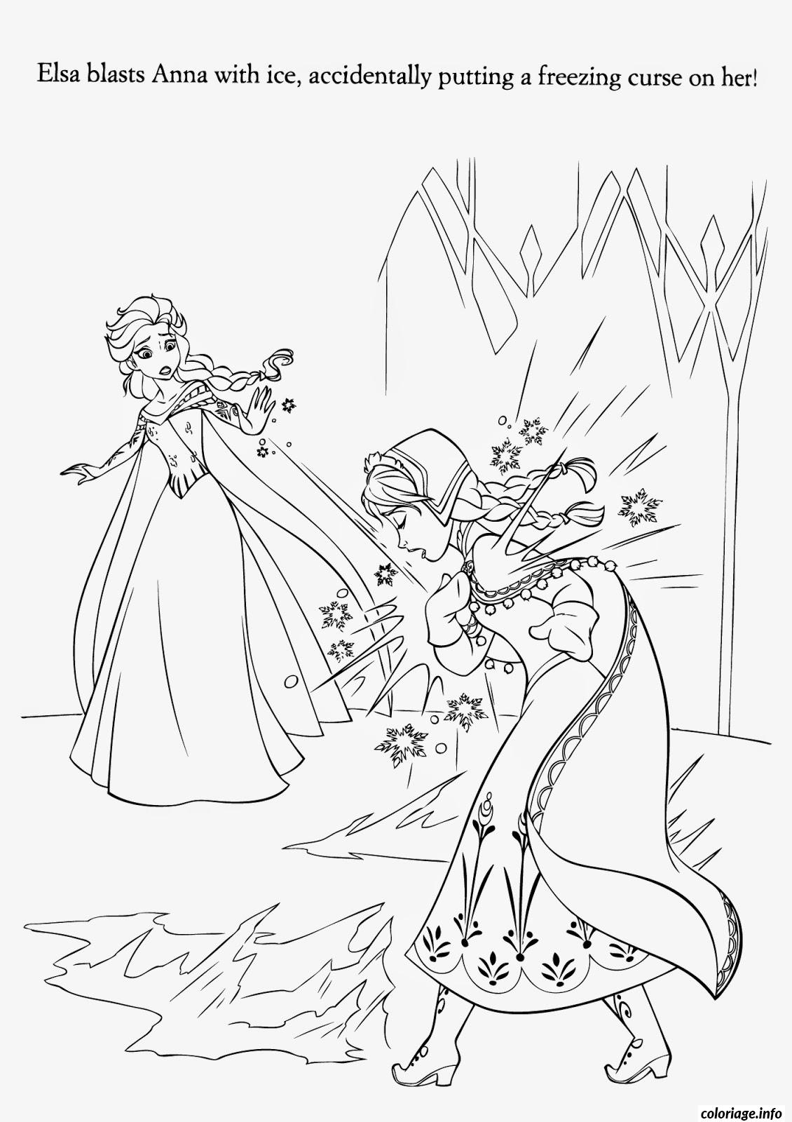 Coloriage Elsa Est Surprise dessin