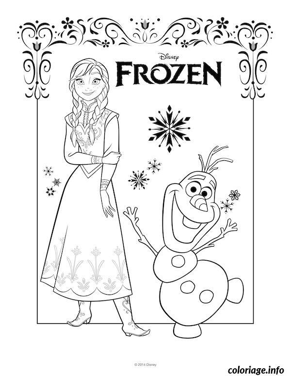 Coloriage Anna Elsa Et Olaf.Coloriage Anna Et Olaf Dessin Dessin