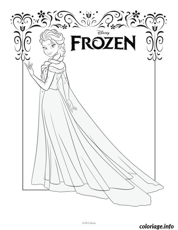 Dessin elsa frozen disney Coloriage Gratuit à Imprimer