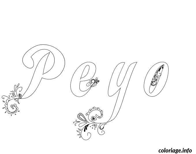 Dessin Peyo Coloriage Gratuit à Imprimer