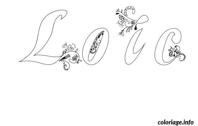Coloriage loic - Prenom a imprimer ...