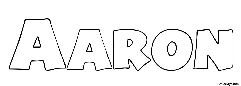 Coloriage aaron dessin - Dessin de prenom ...