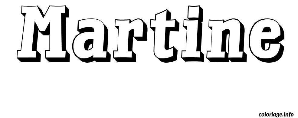 Coloriage martine dessin - Dessin de prenom ...