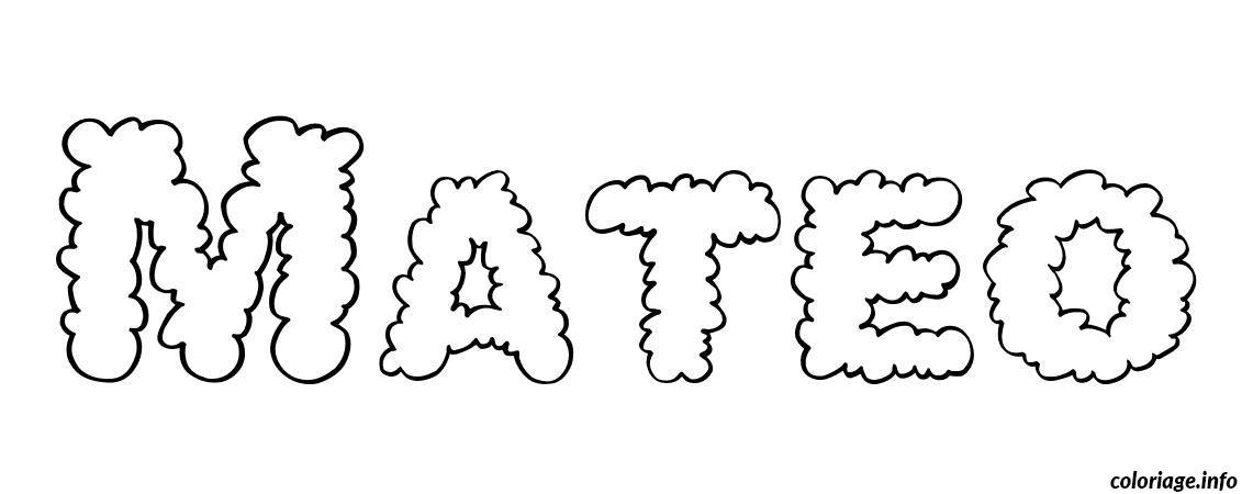 Coloriage mateo dessin - Tag prenom gratuit ...