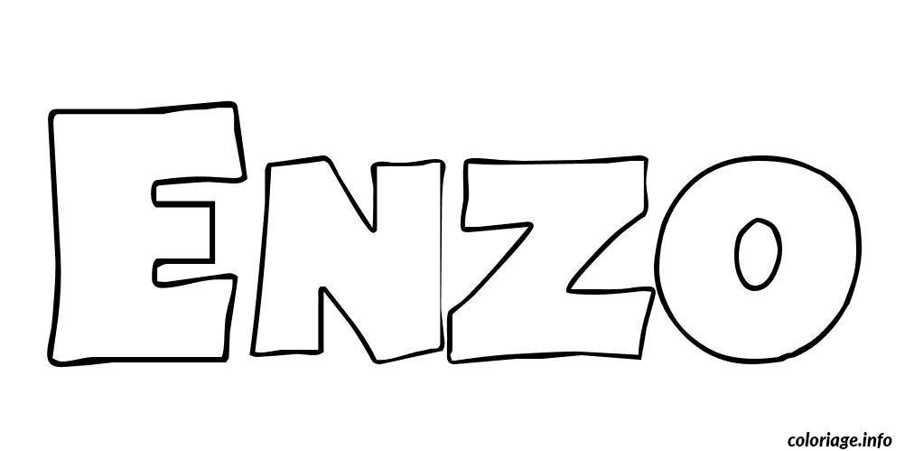 Coloriage enzo - Tag prenom gratuit ...