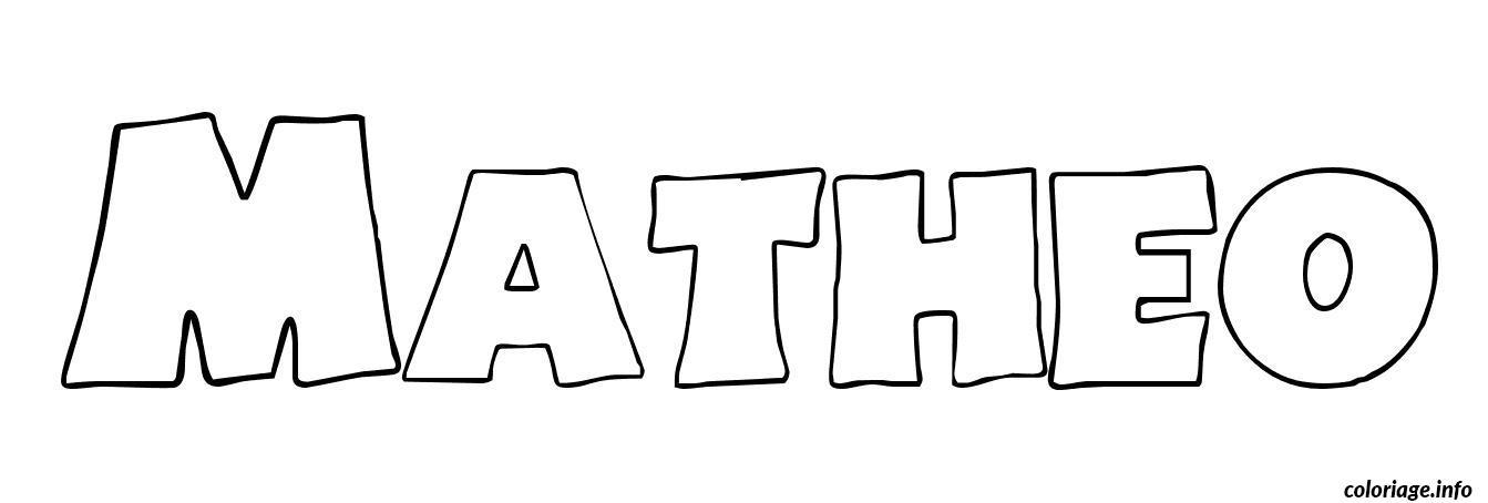 Coloriage matheo dessin - Coloriage prenom tag ...