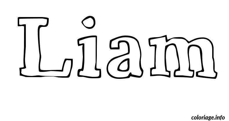 Coloriage liam dessin - Prenom a imprimer ...