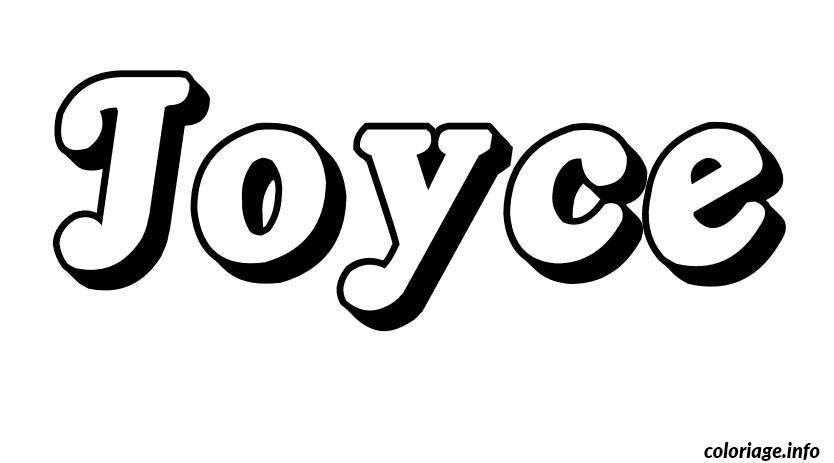 Coloriage joyce - Prenom a imprimer ...