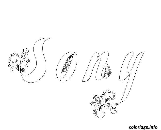 Dessin Sony Coloriage Gratuit à Imprimer