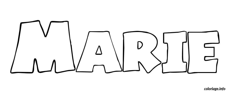 Coloriage marie dessin - Prenom dessin ...
