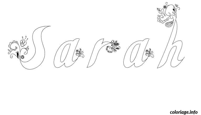 Coloriage sarah - Prenom a imprimer ...