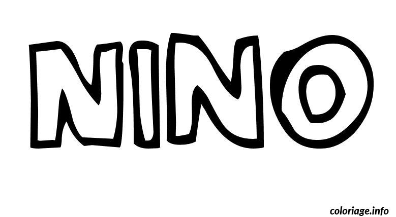 Dessin Nino Coloriage Gratuit à Imprimer