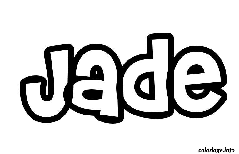Coloriage jade - Prenom a imprimer ...