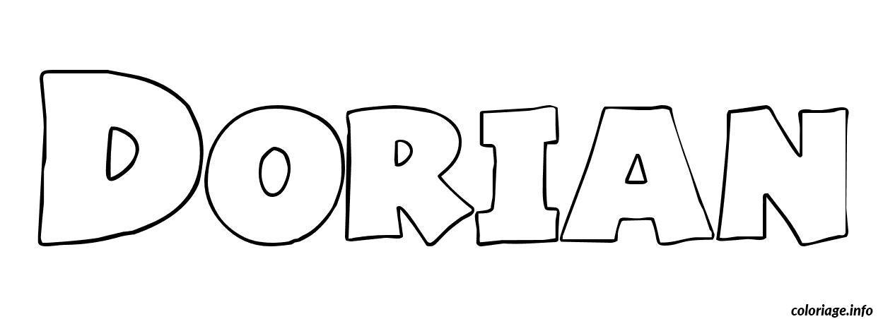 Coloriage dorian dessin - Prenom a imprimer ...
