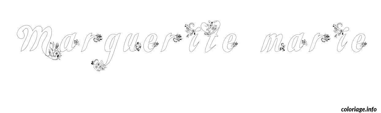 marguerite marie coloriage dessin 3775