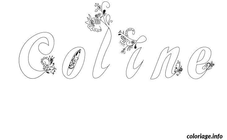 Coloriage coline dessin - Prenom en dessin ...