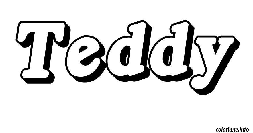 Coloriage teddy dessin - Prenom en dessin ...