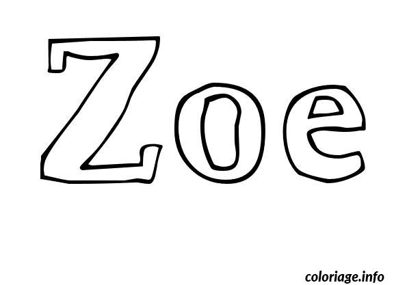 Coloriage zoe dessin - Prenom a imprimer ...
