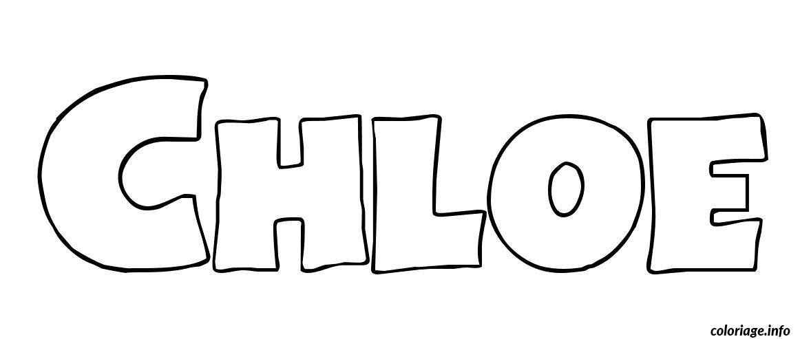 Coloriage chloe dessin - Prenom dessin ...