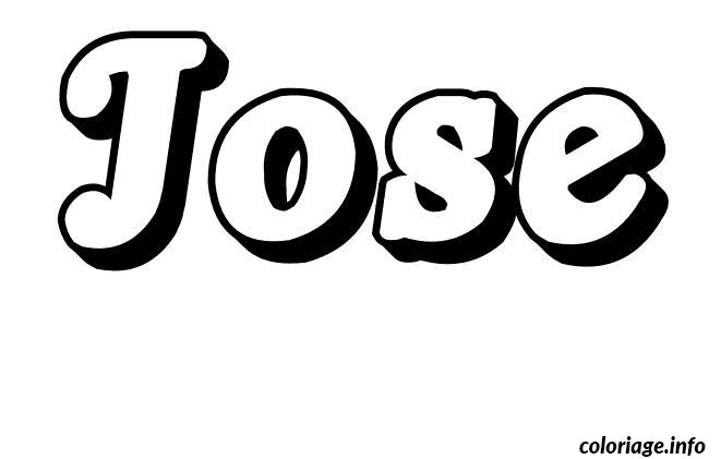Dessin Jose Coloriage Gratuit à Imprimer