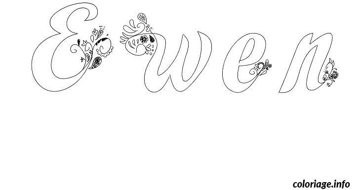Coloriage ewen - Prenom a imprimer ...