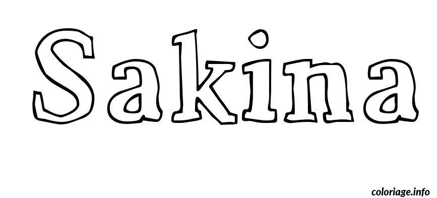 Dessin Sakina Coloriage Gratuit à Imprimer